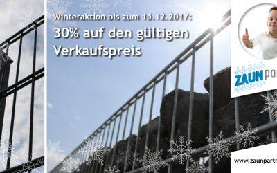 Jetzt mit unserer großen Zaunpartner Winteraktion Geld sparen!